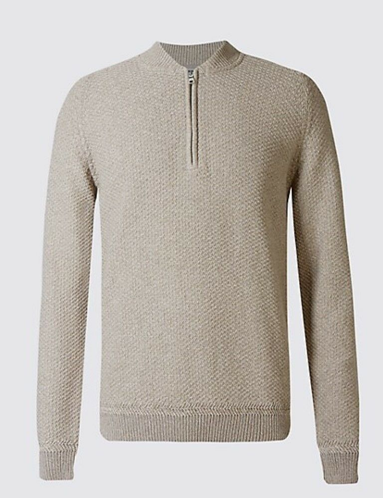 M&S Collection Pure Cotton Baseball Jumper Small TD089 DD 05