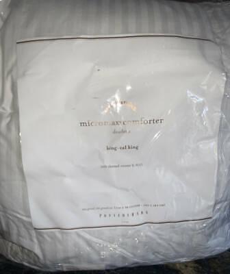 New Pottery Barn Micromax Comforter Insert King 300 Tc