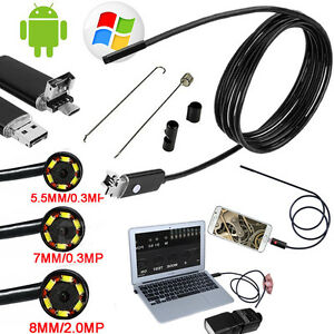 USB-Endoscope-5m-6-pc-LED-Waterproof-Borescope-Inspection-Camera-Android-video