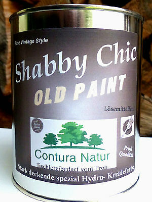 SHABBY CHIC Möbellack Kreidefarbe Weiß Creme Möbelfarbe Vintage Holz Lack Farbe