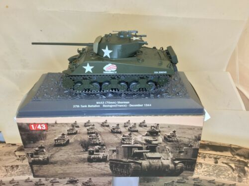 DeAGOSTINI 1:43 Modèle M4A3 Sherman Tank-Neuf