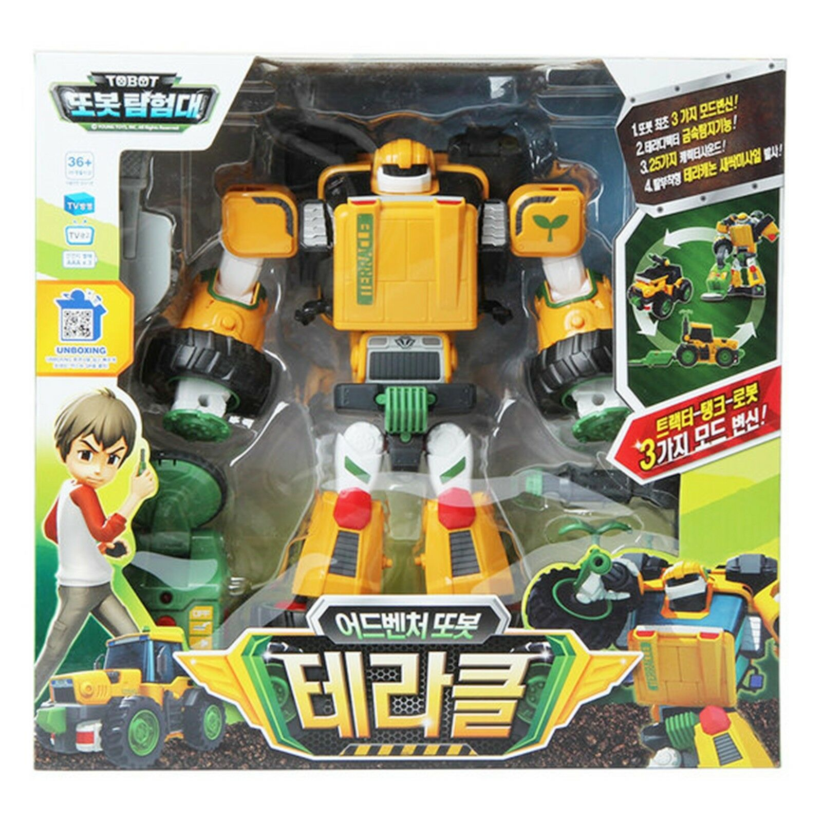 Tobot Adventure TERACLE 3 Mode Tractor Tank Transformer Transforming Robot Toy