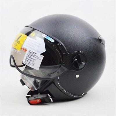 ZEUS 381C 3//4 Helmet Motorcycle  Retro Moto Casco Scooter Open Vintage Face CNS