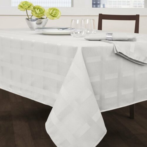 Maison Fabric Tablecloth Heavy Wrinkle resistant by Benson Mills Everyday Use
