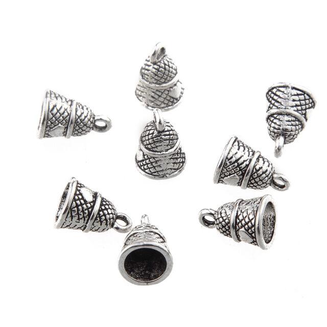 70pcs Buddha Head Beads Charms Tibetan Silver Pendant DIY Bracelet Necklace