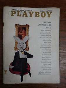 Revue-Vintage-PLAYBOY-MAGAZINE-US-Edition-Vol-13-1-January-1966-COMPLETE