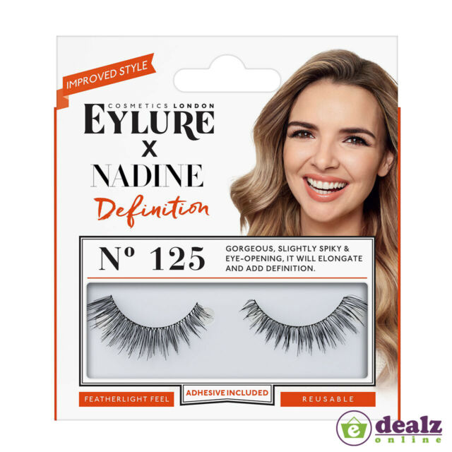 EYLURE Nadine Definition 125 Ladies Adhesive Reusable Easy Apply False  Eyelashes