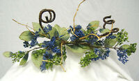Blue Swag Berry Primitive Silk Flowers Roses Arch Centerpieces Wedding Decor