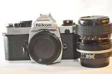 Nikon FM2N FM2 FILM ANALOG SLR camera w/ Nikkor 35-70mm zoom lens E2 Grid screen