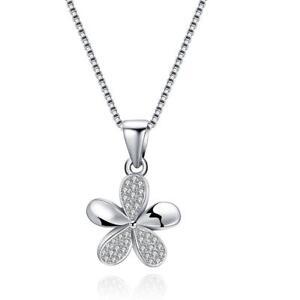 Kette-925-Sterling-Silber-Halskette-Blume-mit-Zirkonia-45-cm-17-7-034