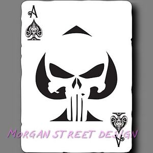Punisher Ace Of Spades Playing Card Phone Car Yeti Decal Sticker Ebay