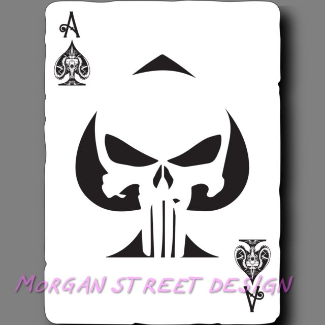 GLASS WALL CARD VINYL DECAL STICKER FOR CRAFT 10 X SKULL WITH SWORDS