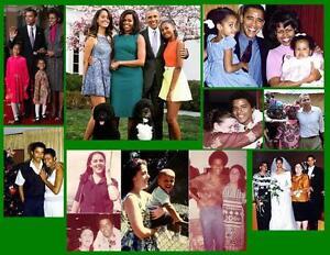 OBAMA FAMILY 8 PHOTO FRIDGE MAGNETS