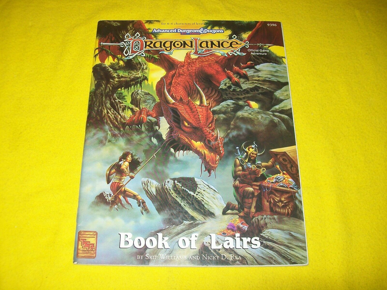 BOOK OF LAIRS DRAGONLANCE DUNGEONS & DRAGONS AD&D 2ND EDITION TSR 9396 - 2