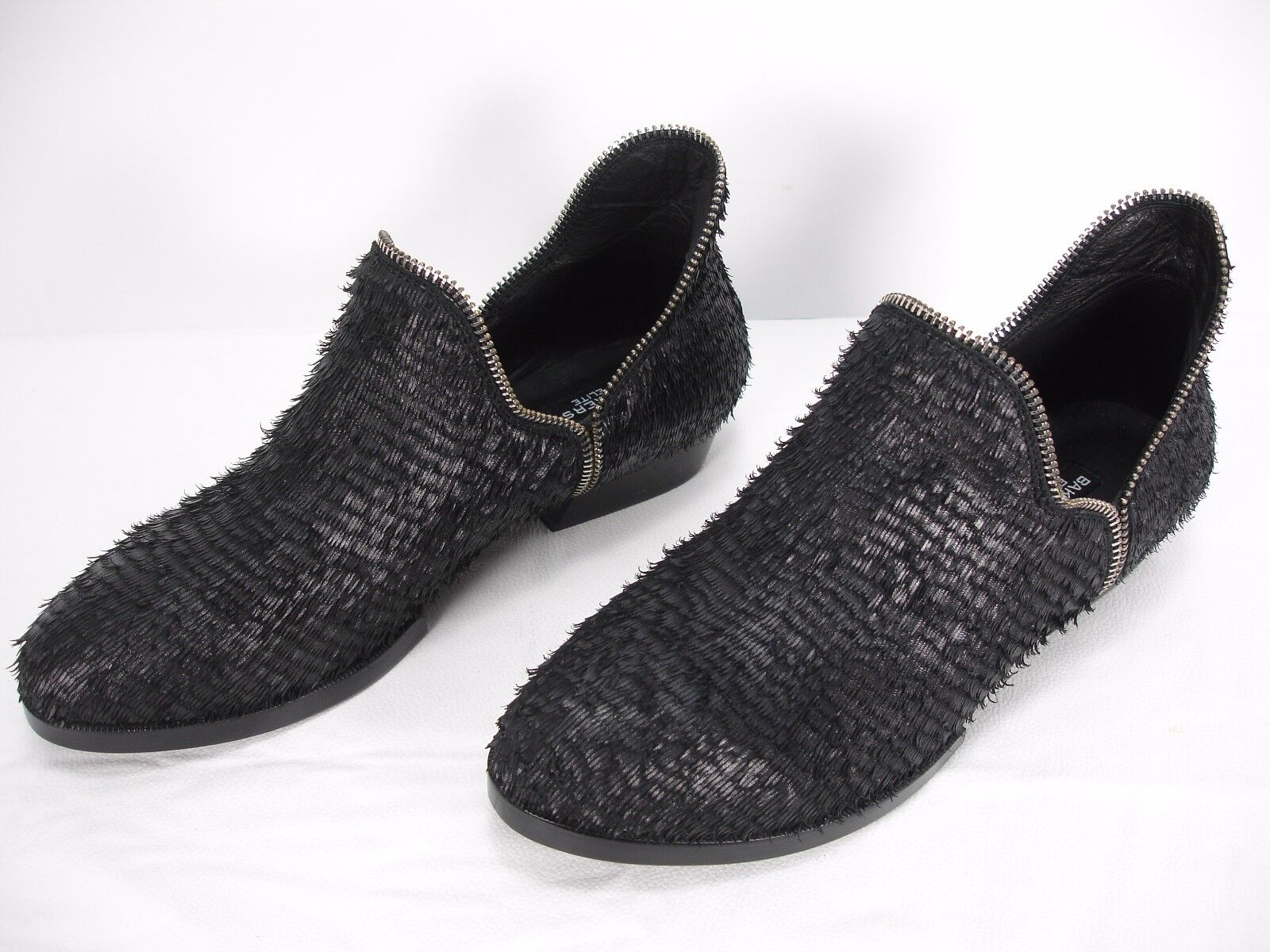 NEW BAKERS ELITE SETTLE FRAYED LEATHER ZIPPER DETAIL BOOTIES SHOES WOMEN'S 39