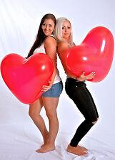 Riesen- HERZ- Luftballon 65cm Ø ! ROT ! -- Riesen- Ballon ROT + Hochzeit + Deko