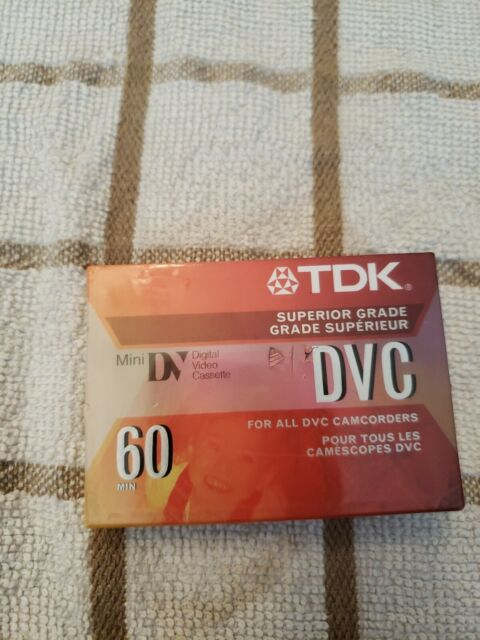 TDK Mini DVC Superior 60 Min Factory Sealed Digital Video Blank Cassette Tape