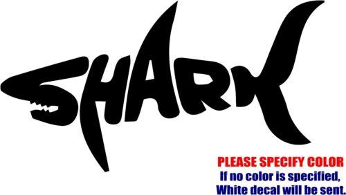 "SHARK #8 Decal Sticker JDM Funny Vinyl Car Window Bumper Wall Truck Laptop 12/"""