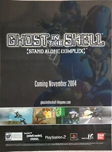 Ghost In The Shell Stand Alone Complex Playstation 2 Ps2 Promo Ad Print Poster Ebay