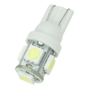 Lot-2-X-12V-2-5-W-T10-5050-5SMD-Standlicht-Birne-Canbus-LED-Innenraum-weiss