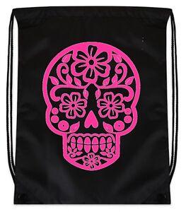 Printed Tote Bag Candy Skull Day of the Dead Dia de los Muertos Spanish