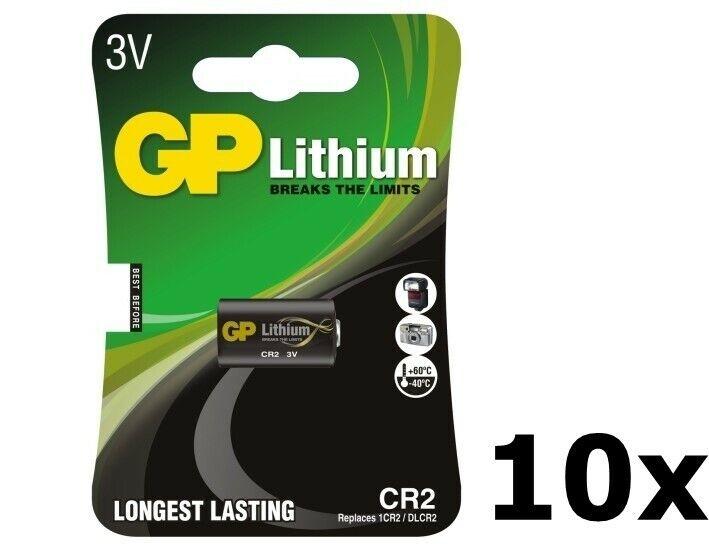 US BS284-10x GP CR2 DLCR2 EL1CR2 CR15H270 lithium battery 10x Blisters
