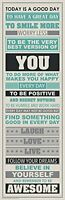 Be Awesome Inspirational Motivational Happiness Quotes Decorative Poster Print, on Sale