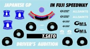 F1 DECALS MUSEUM COLLECTION D511 1/43 FOR WILLIAMS FW30 & TORO ROSSO STR3
