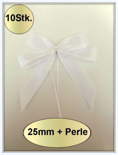 0,69€ Stk 10 Antennenschleifen Autoschleifen Spiegelschleifen Hochzeit