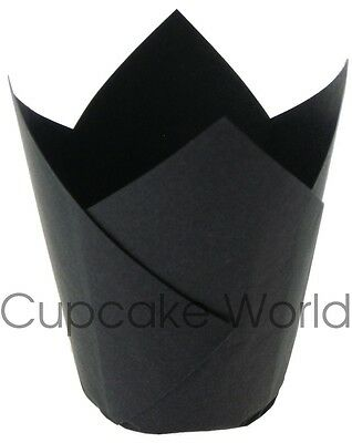 100PCS BLACK STANDARD CAFE STYLE PAPER MUFFIN CUPCAKE WRAPS CUPS CASES LINERS