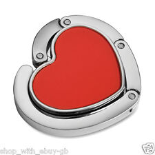 RED HEART HAND BAG HANGER - HANDBAG VALENTINES DAY GIFT & LADIES WEDDING FAVOUR