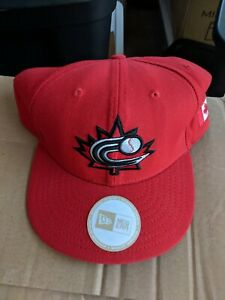 New Era 59Fifty WBC Cap Canada Official Team Color Fitted Hat Red//Black