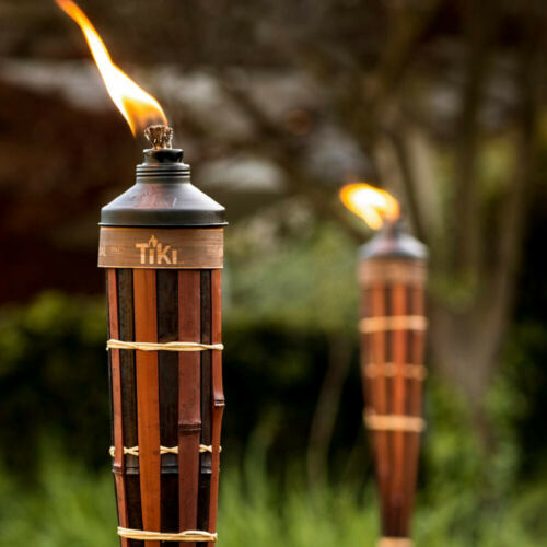 Bamboo Torches 60 in 4-Pack Dark Finish Royal Polynesian Powder Coated