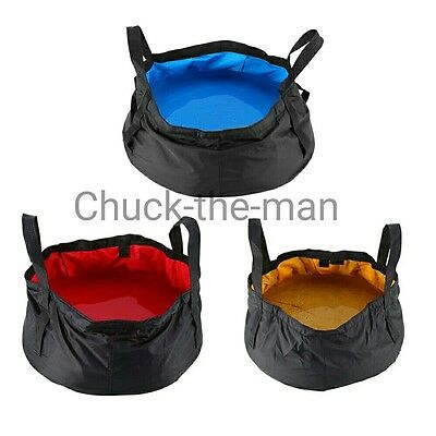 Folding Portable Basin Washing Bucket Travel Camping Festival Sink Water Pot 12L