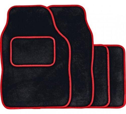 13 on SKODA OCTAVIA BLACK /& RED TRIM CAR FLOOR MATS