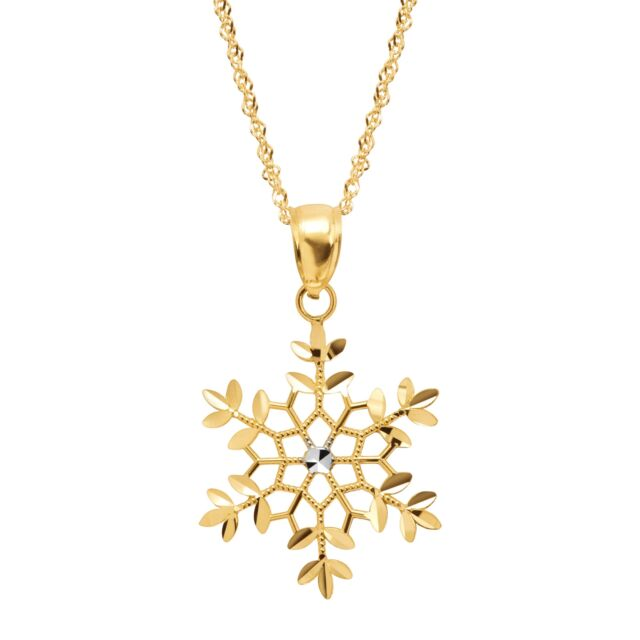 Eternity gold two tone snowflake pendant in 14k gold with rhodium eternity gold two tone snowflake pendant in 14k gold with rhodium plating aloadofball Image collections