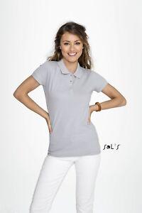 LADIES-POLO-SHIRT-Sol-039-s-Short-Sleeve-Tee-Women-039-s-Cotton-Pique-23-Colours
