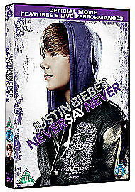 1 of 1 - Justin Bieber - Never Say Never 3D (DVD, 2011) new and sealed freepost