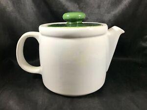 Vintage MCCOY POTTERY 1418 White Teapot Coffee Pot