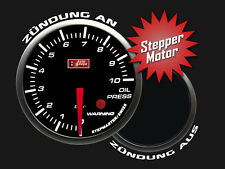Auto Gauge STEPPER LED Zusatzanzeige Zusatzinstrument Öldruck inkl. Geber