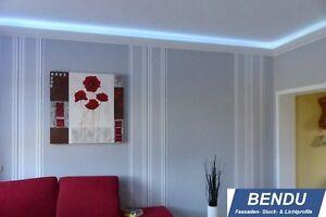 Details zu 20m LED Stuckleisten Lichtprofil indirektes Licht Decke  Beleuchtung Wohnzimmer