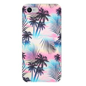 Coque Iphone 7 8 SE 2020 tie and dye palmier