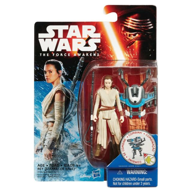 Star Wars The Force Awakens 3.75-Inch Figure Snow Mission Rey + Wing Blaster New