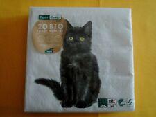 schwarze Katze 3 Lunch Papier Servietten Napkins WWX14 Black Cat