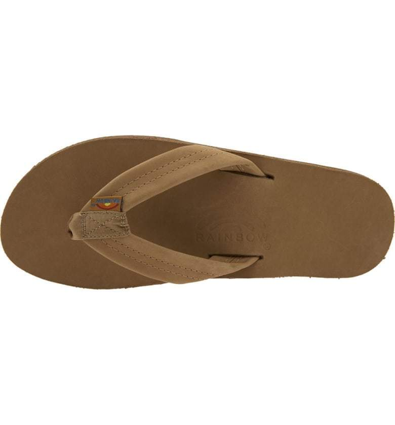 New Rainbow Sandals leather Single Layer  Sierra Brown 301ALTS US Men's Size