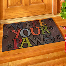 Welcome Mats For Front Door Outdoor Poly Rubber Floor Mat Home Porch Decor Paws