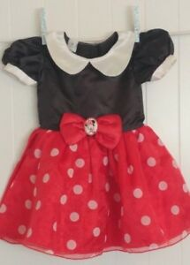 b2c267ff0aa Disney Baby Girl 12-18M Red Black White Polka Dot Bow Minnie Mouse ...