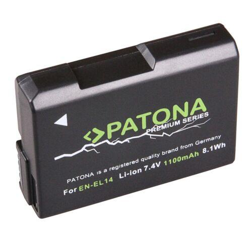 Premium Akku für Nikon EN-EL14 Coolpix Spiegelreflex Dual LCD USB Ladegerät