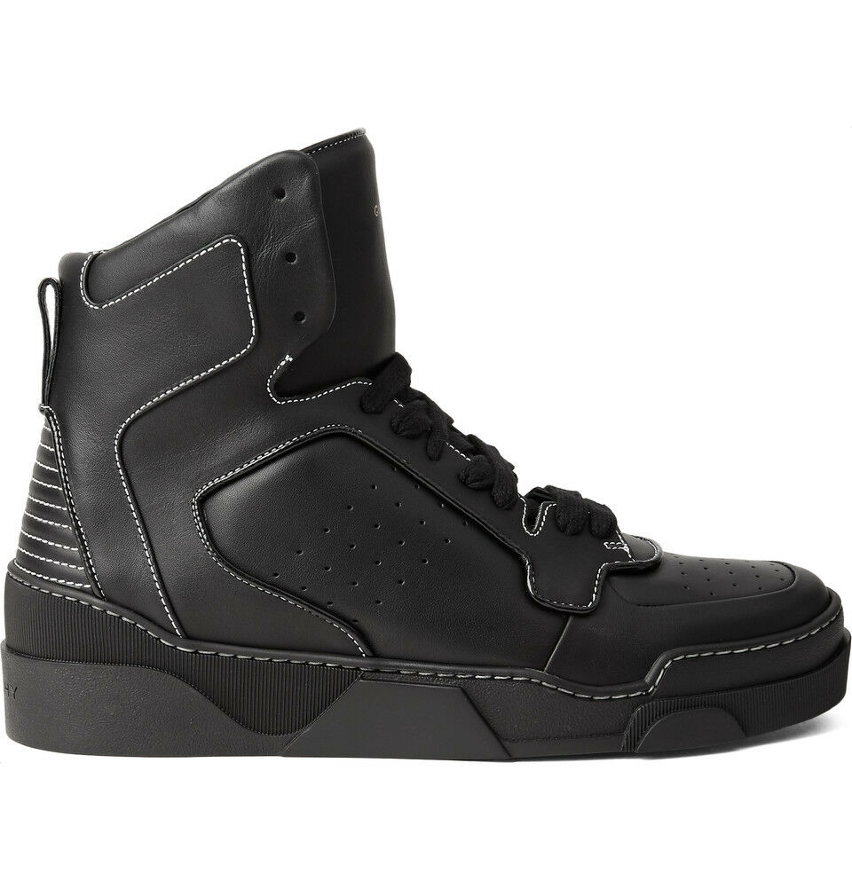 890 Givenchy Tyson nero nero nero Leather High Top nero Leather scarpe da ginnastica scarpe 39 - 7 226179