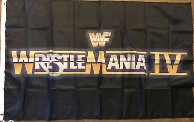 Wrestle Mania V Flag 3x5 WWF Banner World Wrestling Federation Mania 5 Man Cave